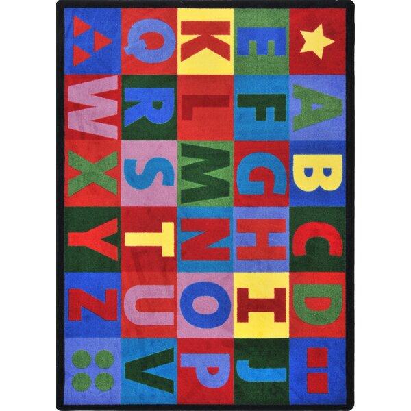 Kid Essentials Oversize Alphabet Tufted Blue/Red Rug