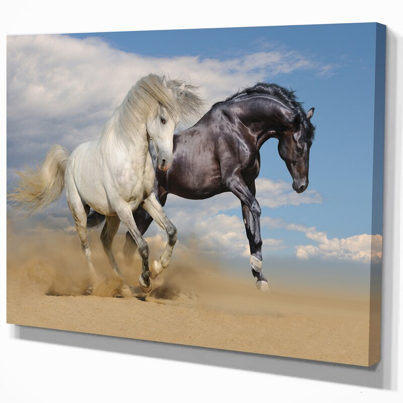 Gorgeous Spirit Horses Photagraphic Design King Size Duvet Set