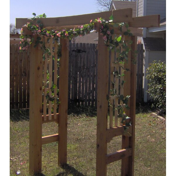 Deluxe Japanese Wood Arbor by Threeman Products