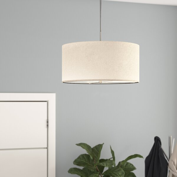 Sasha 3-Light Drum Chandelier by Langley Street