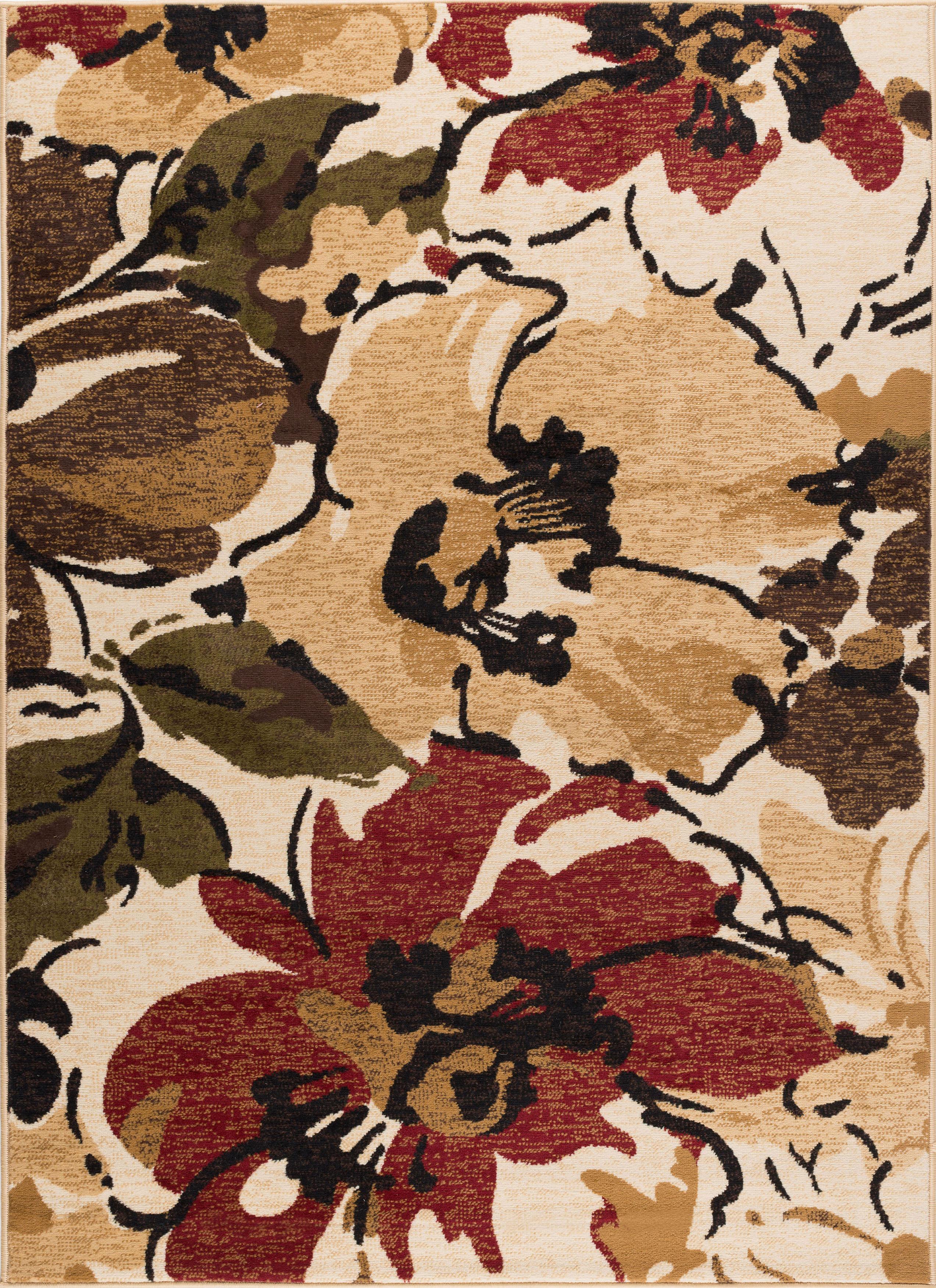 capri wool brown luxury rugs tayse area floral rug