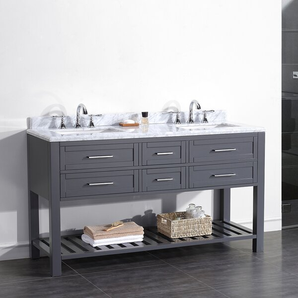 Pasadenas 60 Double Carrera Top and Rectangular Basin Vanity Set by Ove Decors