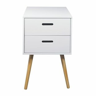 Simona 2 Drawer Bedside Side Table ...
