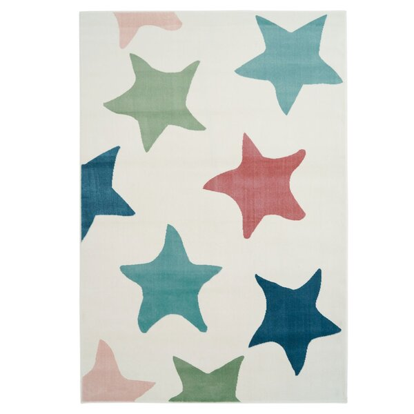 Shamar Star Blue/Green Area Rug by Harriet Bee