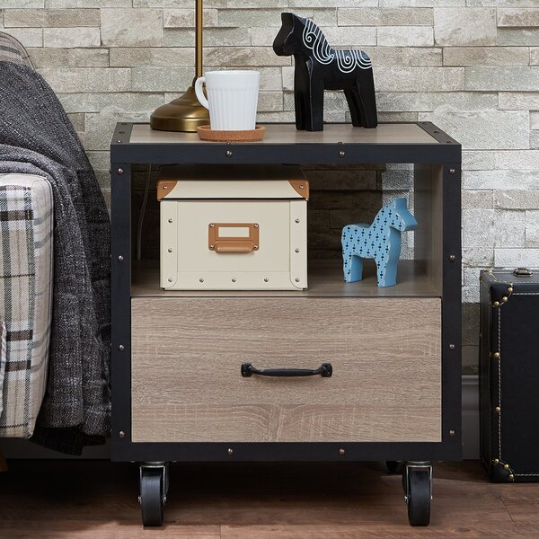 Captiva 1 Drawer Nightstand by Gracie Oaks