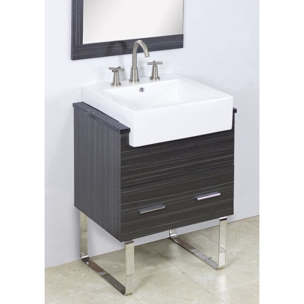 Mulberry Wall Mount 23 Single Bathroom Plywood Vanity Set by Royal Purple Bath Kitchen