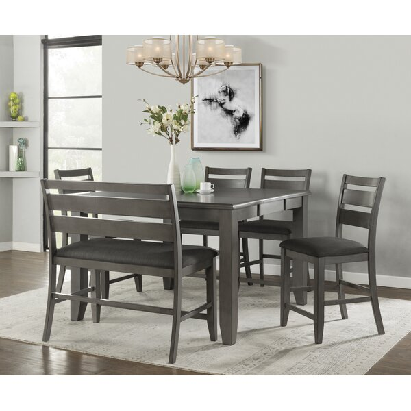 Batista 6 Piece Solid Wood Dining Set by Winston Porter Winston Porter