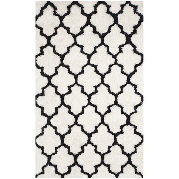 Eno Hand-Tufted Black/Ivory Area Rug by Willa Arlo Interiors