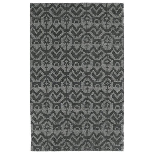 Hinton Charterhouse Hand-Tufted Gray Area Rug by Wrought Studio