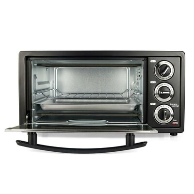 Courant  6-slice Toaster Oven with Broiler, Countertop Convection Oven, Black