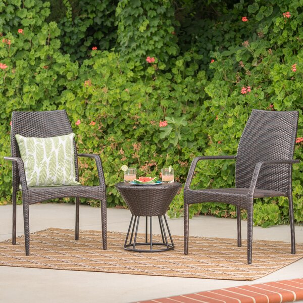Worton 3 Piece Seating Group by Wrought Studio