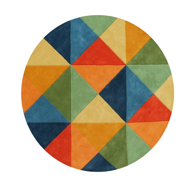 Kinley Blend Hand-Tufted Wool Green/Blue/Orange Area Rug by Latitude Run