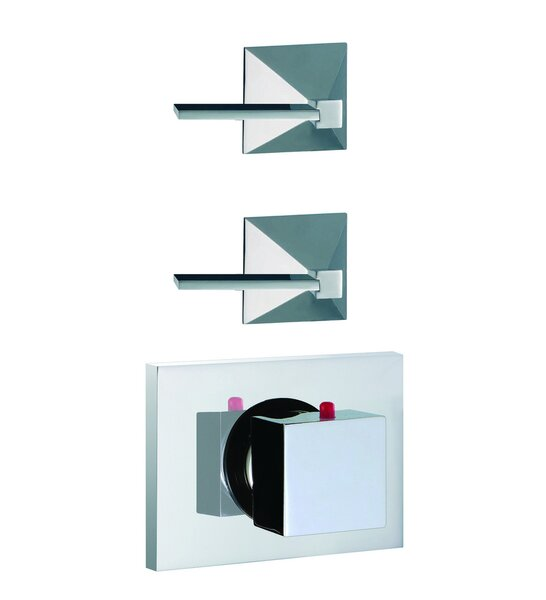 Mp1 Built-In Thermostatic Valve Trim with Two Volume Control Handles by Fima by Nameeks
