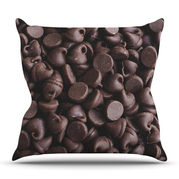 Yay! Chocolate by Libertad Leal Outdoor Throw Pillow by East Urban Home