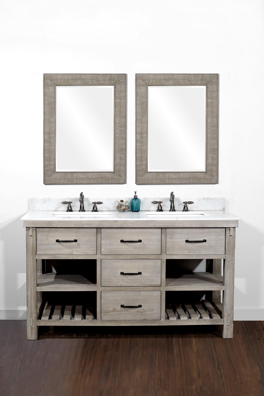 """Eberhart Salle De Bain clemmie 61"""" double bathroom vanity set"""