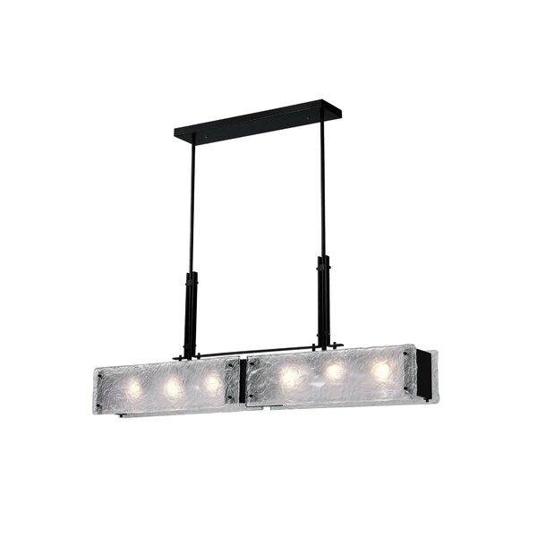Paradiso 6-Light Rectangle Chandelier By Wrought Studio