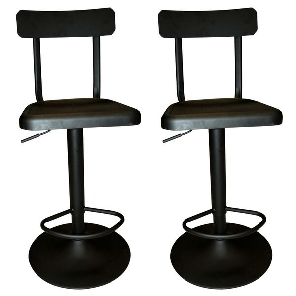 Industrial Adjustable Height Swivel Bar Stool (Set of 2) by !nspire !nspire
