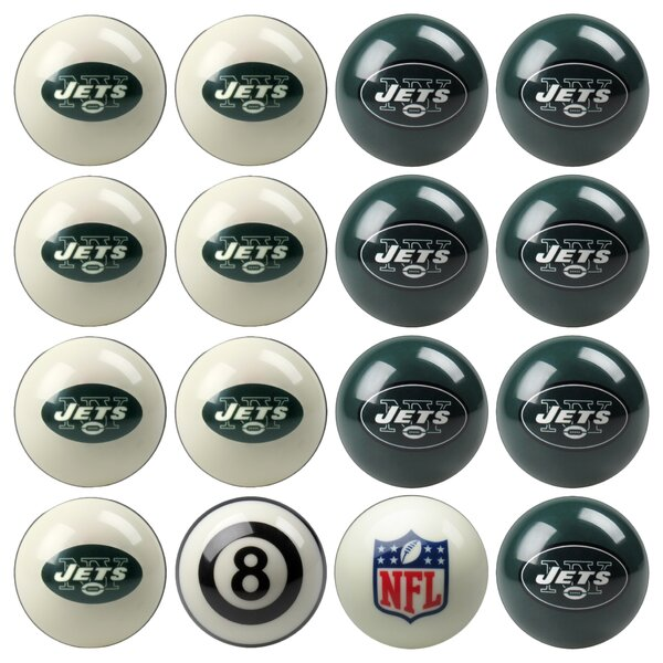16 Piece NFL Billiard Ball Set by Imperial International