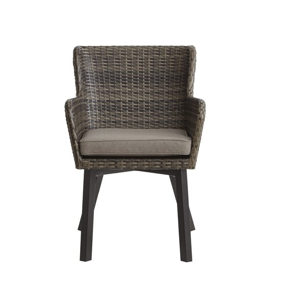 Mcraney Patio Chair with Cushion (Set of 2) by Ivy Bronx