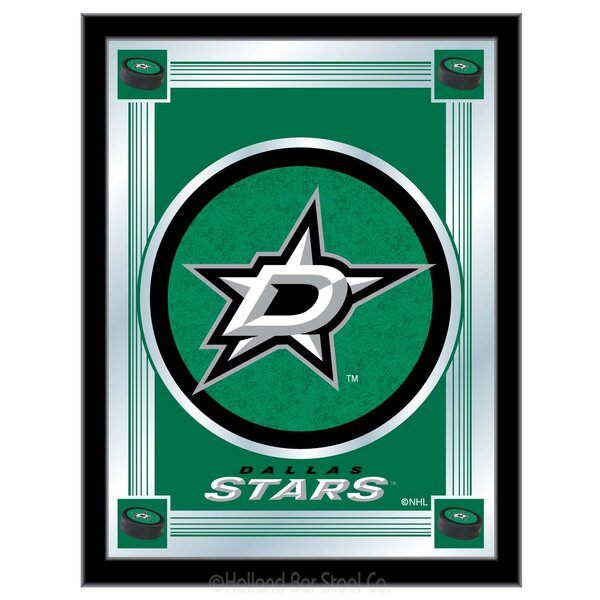 NHL Logo Mirror Framed Graphic Art by Holland Bar