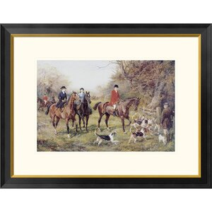 Going To Cover by Heywood Hardy Framed Drawing Print by Global Gallery