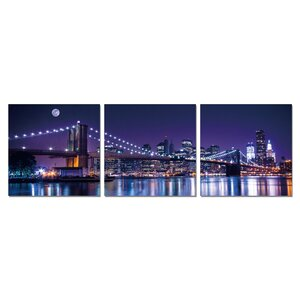 Senik NYC The City Never Sleeps 3 Piece Photographic Print Set by Furinno