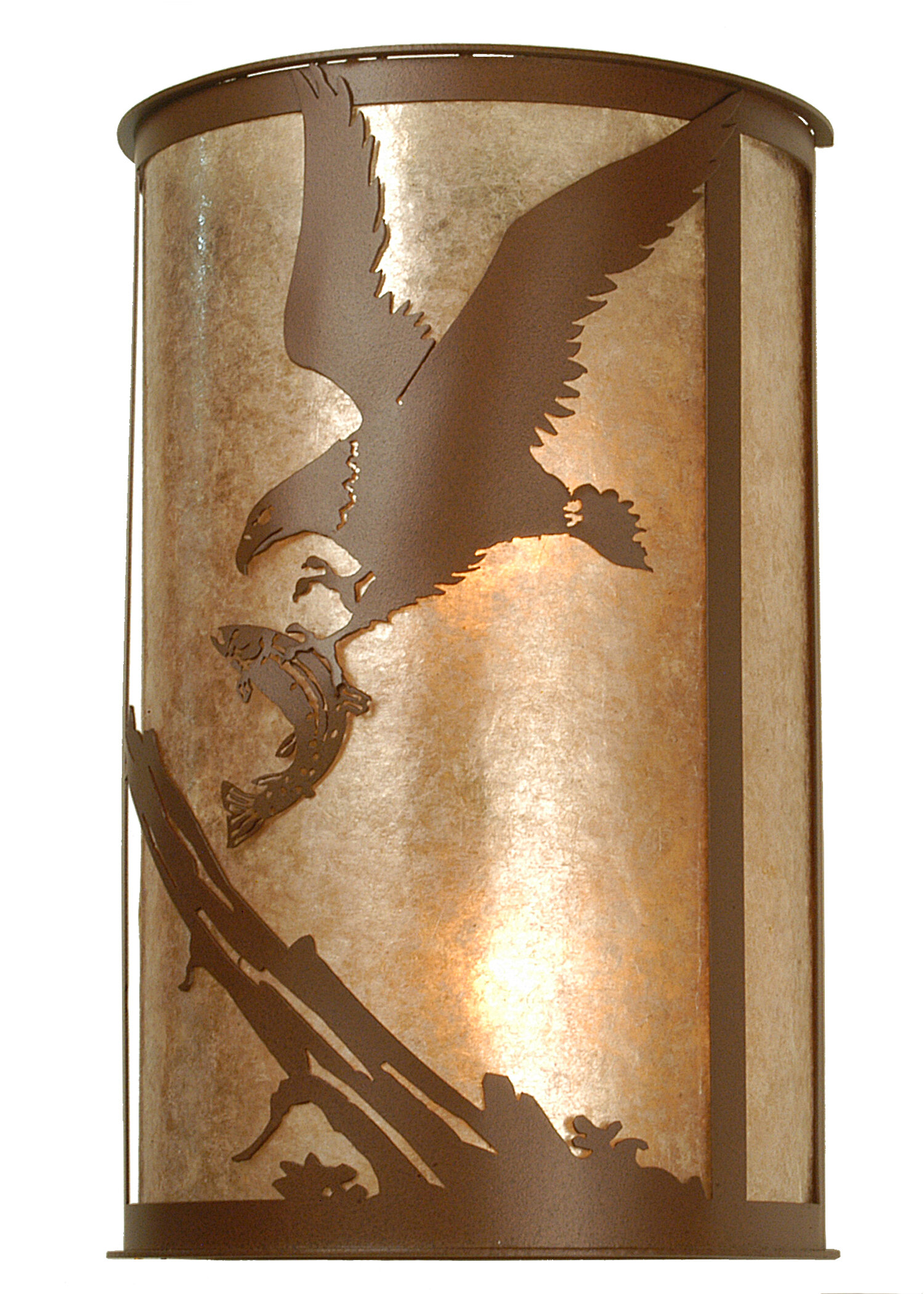 Meyda Tiffany 2-Light Strike of the Eagle Wall Sconce | Wayfair