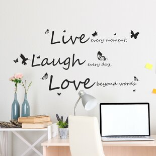 Lovely Live Laugh Love Wall Sticker