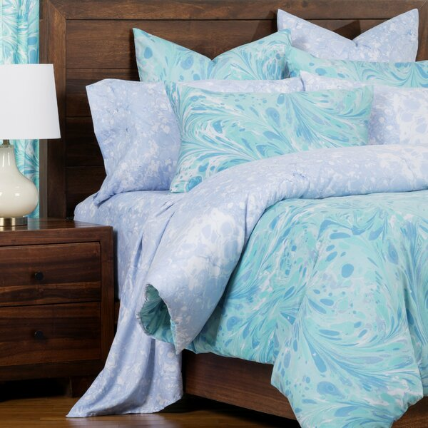 Triton Marbled Reversible Cal King Size Duvet Cover