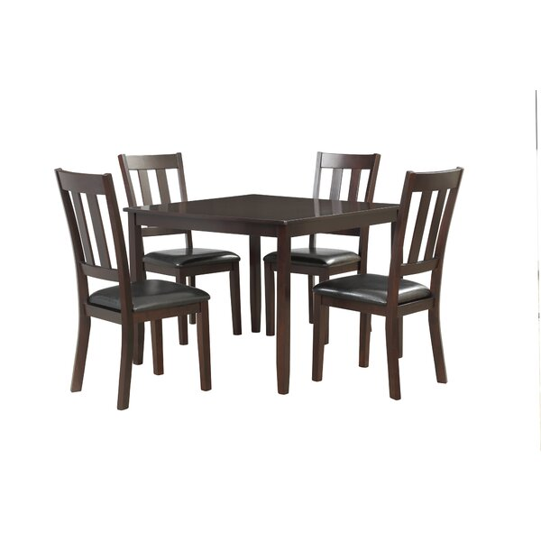 Swann 5 Piece Dining Set by Charlton Home