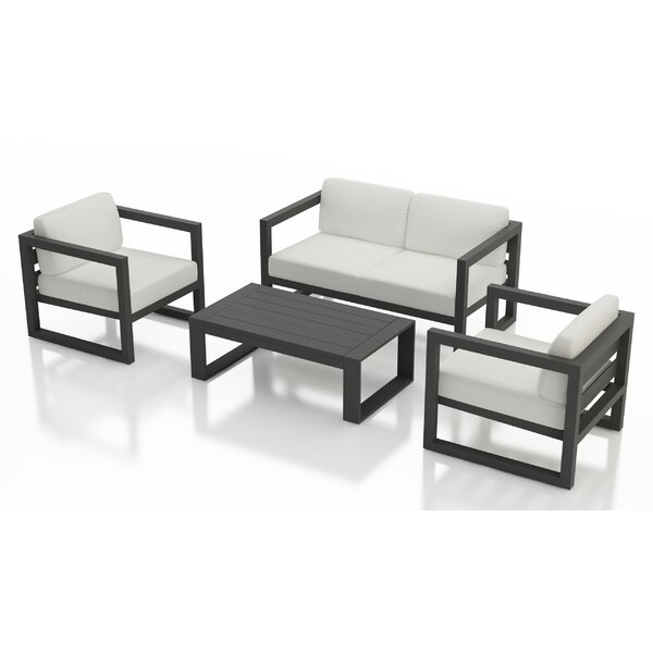 Remi 4 Piece Sofa Seating Group with Sunbrella Cushions by 17 Stories