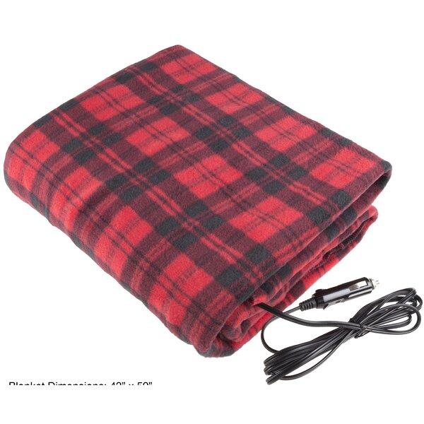12 Volt Plaid Electric Blanket by Stalwart