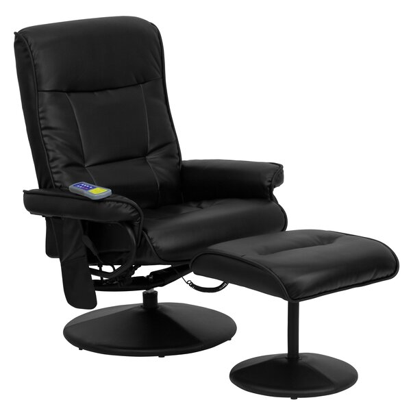 Heated Reclining Massage Chair & Ottoman by Red Barrel Studio