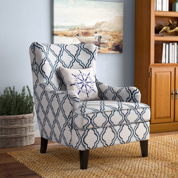 Jain Wingback Chair by Breakwater Bay