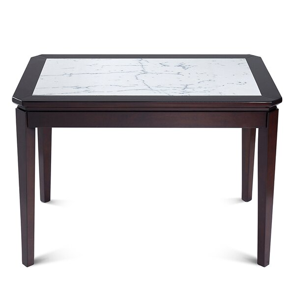 Arie Natural Marble Top Wood Dining Table by Darby Home Co Darby Home Co