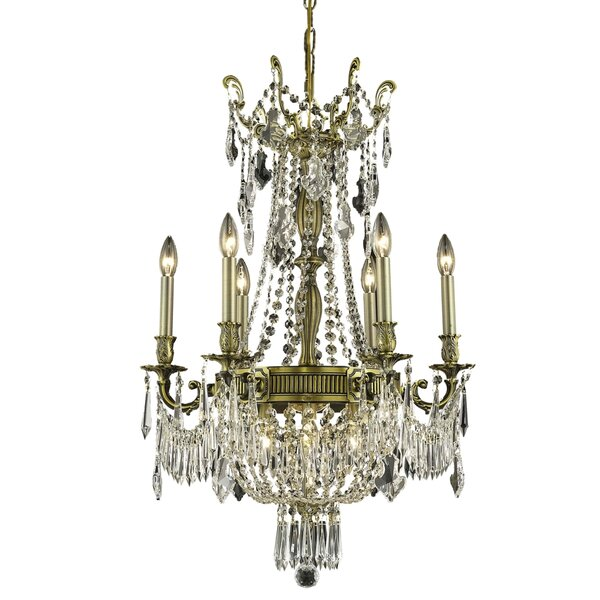 Ursula 9 - Light Candle Style Empire Chandelier With Crystal Accents By Astoria Grand