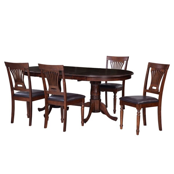 Bateson 5 Piece Double Pedestals Table Dining Set by Darby Home Co