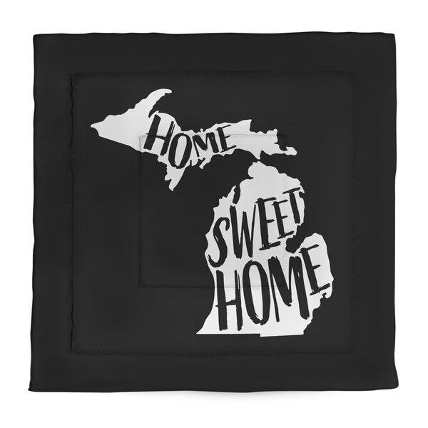 Home Sweet Michigan Single Reversible Comforter