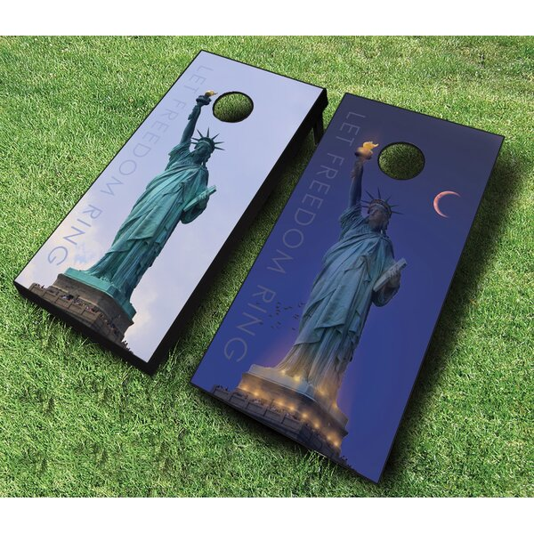 10 Piece Let Freedom Ring Cornhole Set by AJJ Cornhole