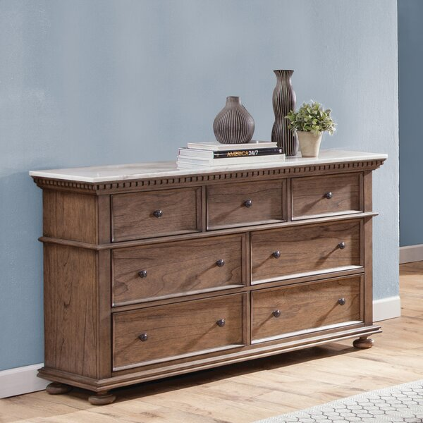 Rawlins 7 Drawer Dresser with Mirror by Darby Home Co