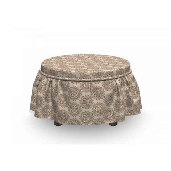 Buy Sale Price Primitive Motif Ottoman Slipcover (Set Of 2)