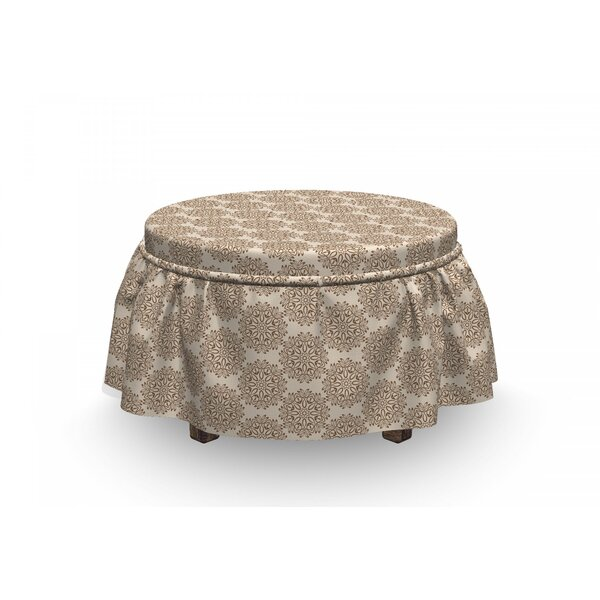 Price Sale Primitive Motif Ottoman Slipcover (Set Of 2)