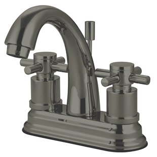 Concord Centerset Bathroom Faucet with Brass Pop-Up Drain