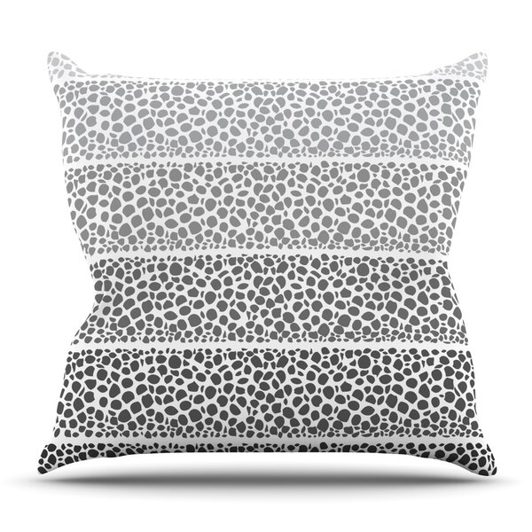 Riverside Pebbles by Pom Graphic Design Outdoor Throw Pillow by East Urban Home