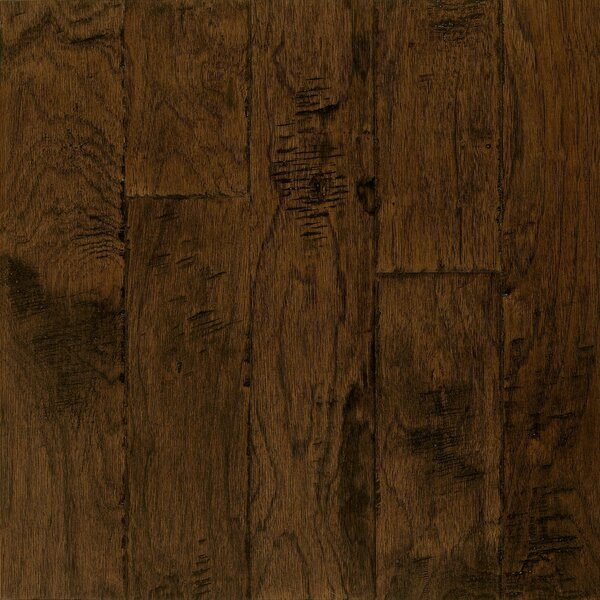 Frontier 5 Engineered Hickory Hardwood Flooring in Brushed Tumbleweed by Armstrong Flooring