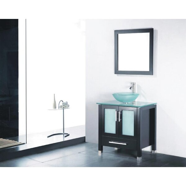 Adrian 30 Single Bathroom Vanity Set with Mirror by Adornus