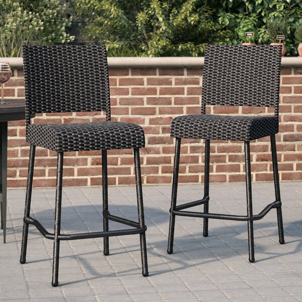 Morrill 29 Patio Bar Stool (Set of 2) by Mercury Row