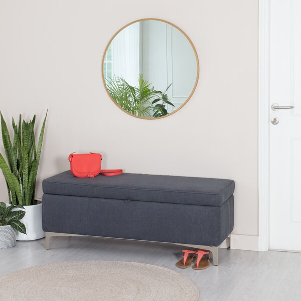 Derrion Upholstered Flip top Storage Bench by Ebern Designs