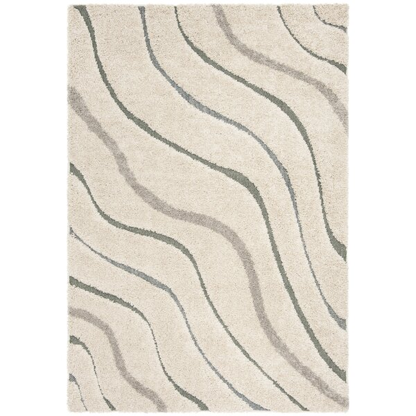 Grimmett Cream/Light Blue Area Rug by Orren Ellis