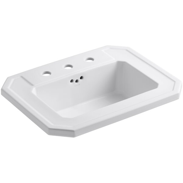 Kathryn® Ceramic Rectangular Drop-In Bathroom Sin